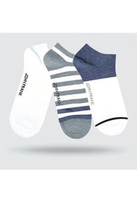 John Frank 3'lü Kısa Çorap Jf3Ss18S13