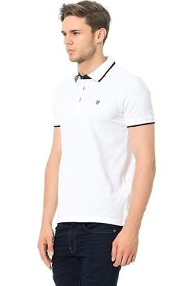 Jack & Jones Erkek 12091243 Jprpaulos Polo Ss Noos Tshirt White