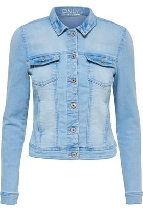 Only Kadın 15114465 New Westa Detail Jacket Light Blue Noos Denim Ceket