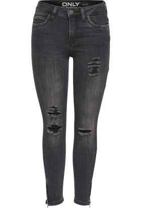 Only Kadın 15133753 Onlkendell Ankle Zip Cre Denim Pantolon Gri