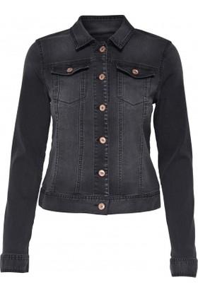 Only Kadın 15138606 Onlchris Ls Black Jacket Bj7627 Noos Denim Ceket Siyah