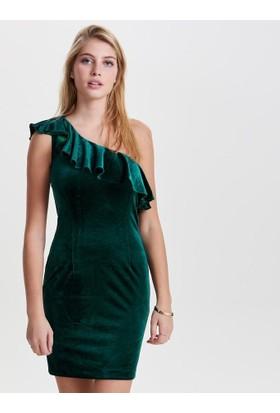 Only Kadın 15144031Onlvega Oneshoulder Bodycon Dress Wvn Elbise Rain Forest