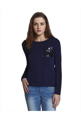 Only Kadın 15144237 Onllaja L - S Top Jrs Tshirt Sky Captain