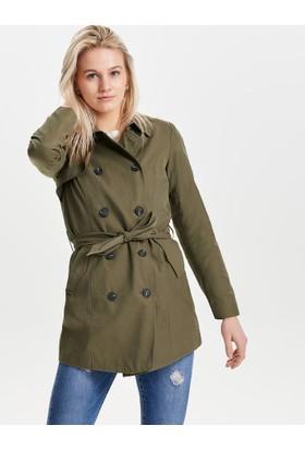 Only Kadın 15144761 Onllucy Long Trenchcoat Cc Otw Trenchcoat Olive