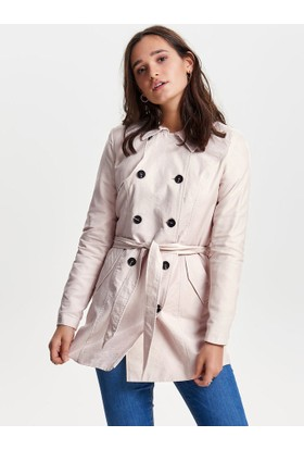 Only Kadın 15144761 Onllucy Long Trenchcoat Cc Otw Moonbeam