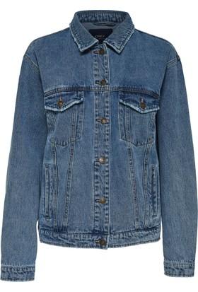 Only Kadın 15155401 Carolıne Ethnic Jacket Bj Ceket Medium Blue Denim