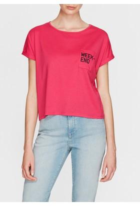 Mavi Kadın Weekend Baskılı Pembe T-Shirt