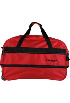 Liveup Kırmızı Orta Boy Seyahat Çantası Bv300-600-M
