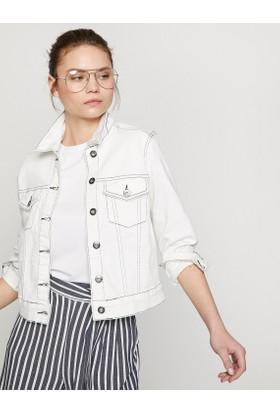 Koton Cep Detaylı Jean Ceket