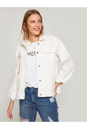 Koton Yırtık Jean Ceket