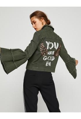 Koton Pul Detaylı Jean Ceket