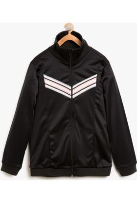 Koton Çizgi Detaylı Sweatshirt