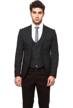 5449d797791f4 ... Wessi Erkek Ekose Yelekli Kombin Kahverengi Kaşe Kışlık Takım Elbise ...