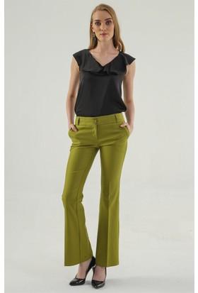Jument 2232 Yağ Yeşili İspanyol Pantolon
