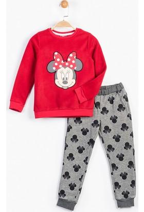Minnie Mouse MN12362 Çocuk Polar Pijama Takımı