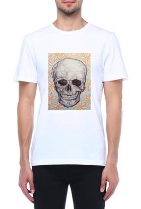 Mumu Tasarım Baskılı Bisiklet Yaka T-Shirt