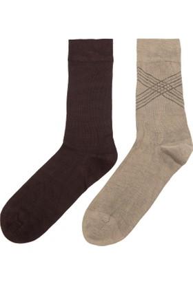 Defacto 2'li Bambu Erkek Çorap