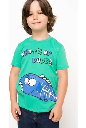 Defacto Baskılı Erkek Çocuk Organik T-Shirt