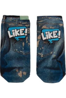 Defacto Baskılı Kısa Çorap