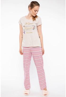 Defacto Baskılı Pijama Takım