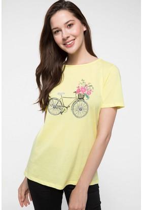 Defacto Baskılı Kısa Kollu T-Shirt