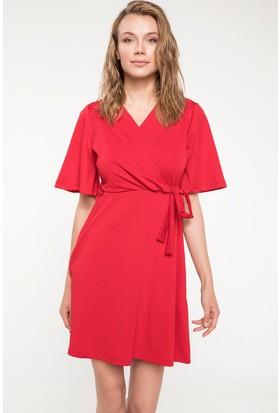Defacto Beli Bağlama Detaylı Anvelop Elbise