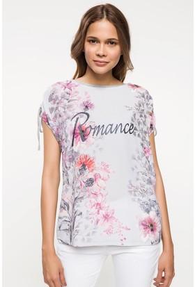 Defacto Çiçek Baskılı T-Shirt