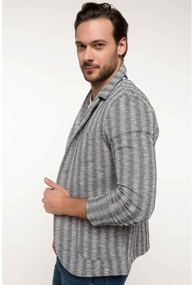 Defacto Çizgili Blazer Ceket