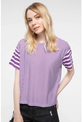 Defacto Çizgili T-Shirt