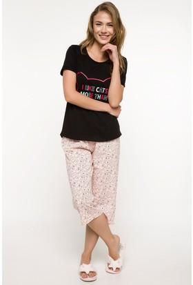 Defacto Desenli Kapri Pijama Takımı