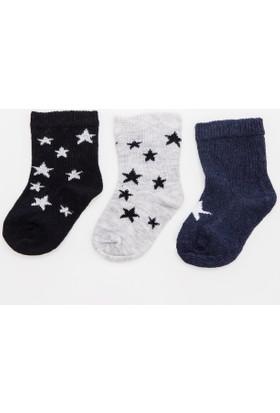 Defacto Erkek Bebek 3'lü Basic Çorap