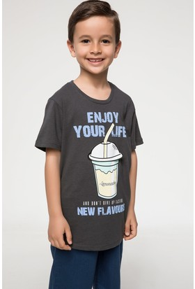 Defacto Genç Erkek Baskılı T-Shirt