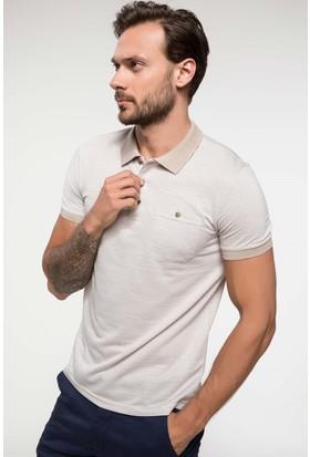 Defacto Geometrik Desenli Jakarlı Polo T-Shirt