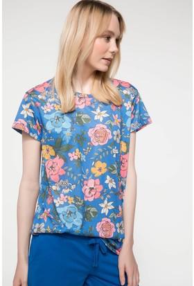 Defacto Floral Baskılı Renkli T-Shirt