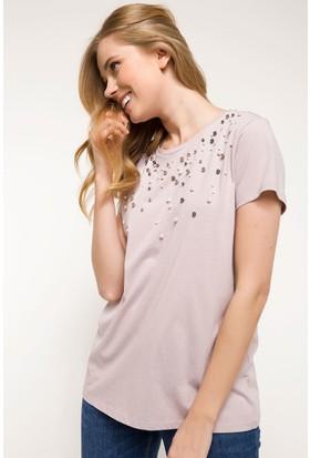 Defacto İnci Detaylı T-Shirt