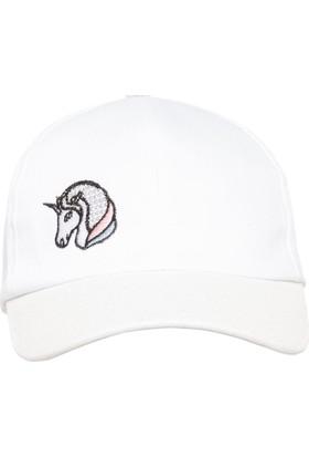 Defacto Unicorn Baskılı Kız Çocuk Şapka