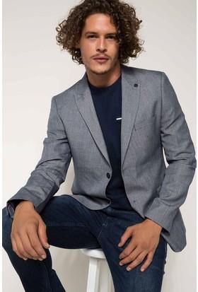 Defacto Keten Karışım Modern Fit Blazer Ceket