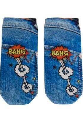 Defacto Kısa Denim Çorap