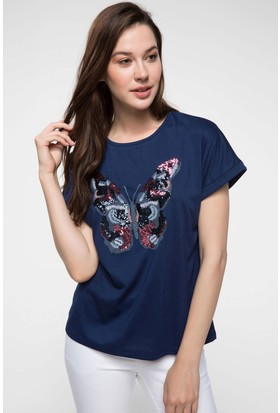 Defacto Kelebek Baskılı T-Shirt