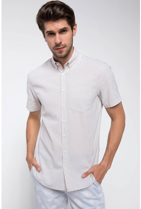 Defacto Kısa Kollu Tek Cep Gömlek
