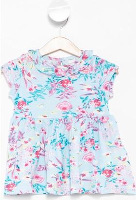 Defacto Kız Bebek Çiçek Desenli Elbise