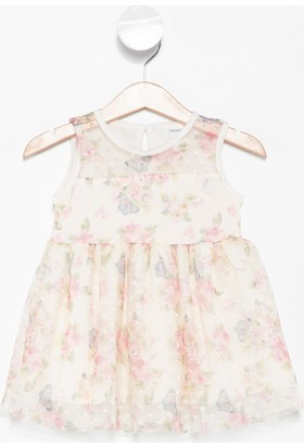 Defacto Kız Bebek Çiçek Desenli Kolsuz Elbise
