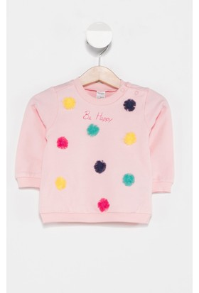 Defacto Kız Bebek Ponpon Detaylı Sweatshirt