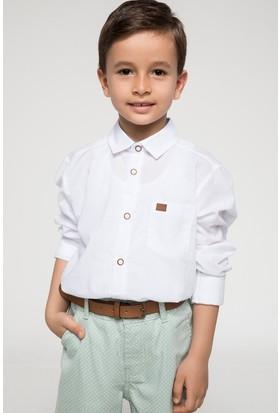 Defacto Kol Katlamalı Polo Yaka Gömlek