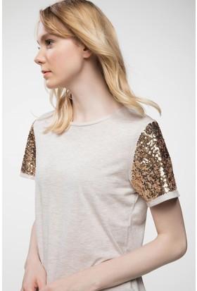 Defacto Kol Payet Detaylı T-Shirt