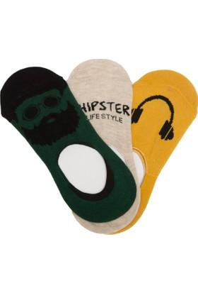 Defacto L#L Baskılı 3'lü Çorap