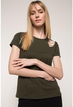 Defacto Omuz Detaylı T-Shirt