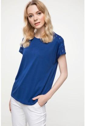 Defacto Omuz Detaylı Uzun T-Shirt