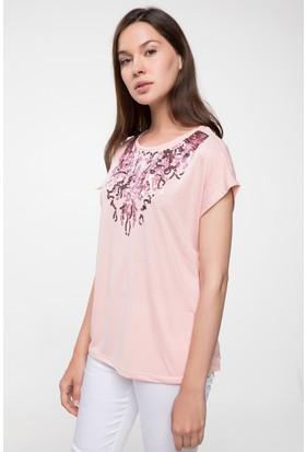 Defacto Payet Detaylı T-Shirt