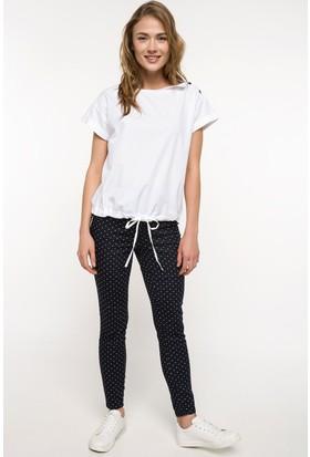 Defacto Puantiye Desenli Slim Fit Pantolon